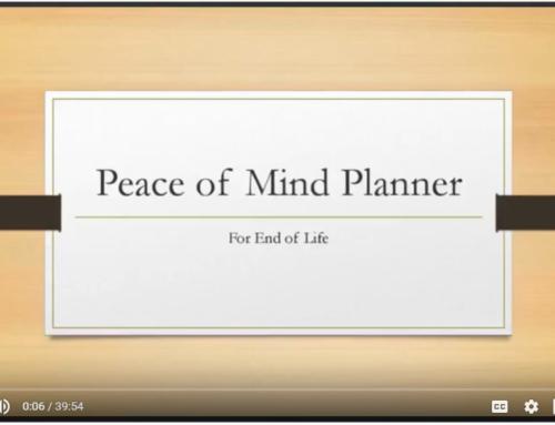 Free Peace of Mind Planner Webinar TONIGHT!