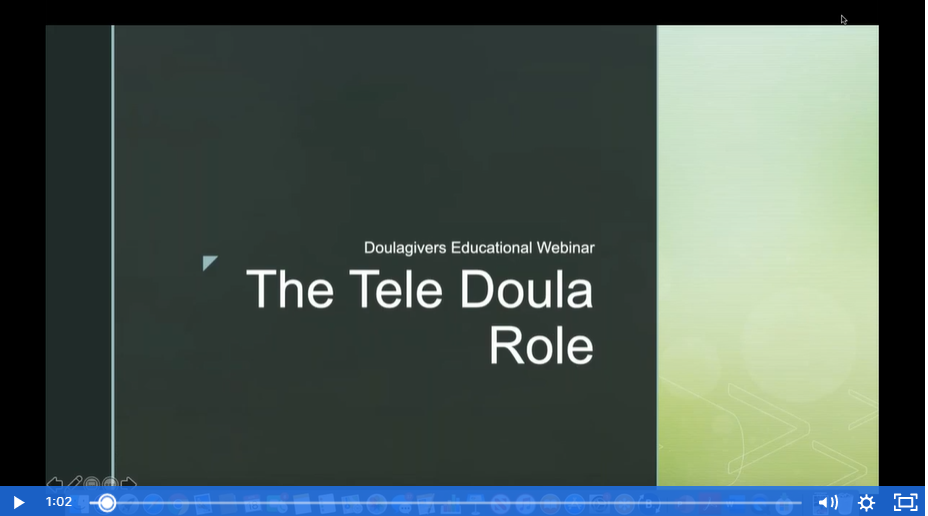 slide of tele doula role
