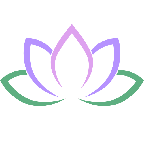 purple lotus outline