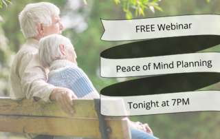 Free Peace of Mind Planning Webinar Tonight 7pm