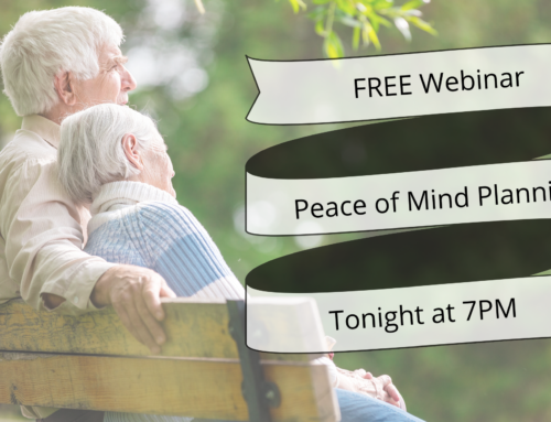 Free Peace of Mind Planner for End of Life Webinar Tonight