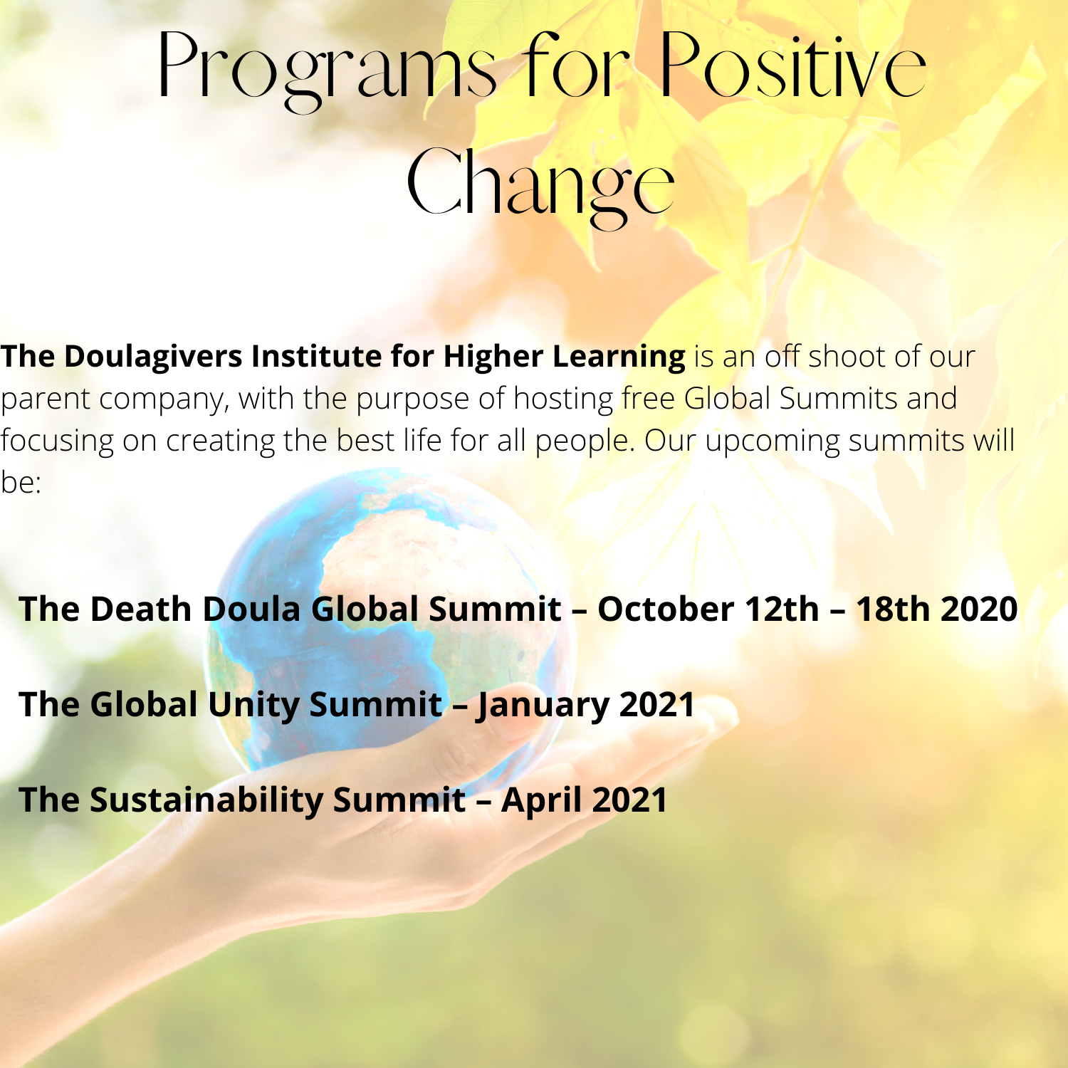 Programs for Positive Change (2)