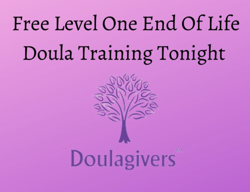 FREE Level 1 End of Life Doula Training Webinar TONIGHT 20 August 2020