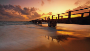 pier at sunset representing end of life