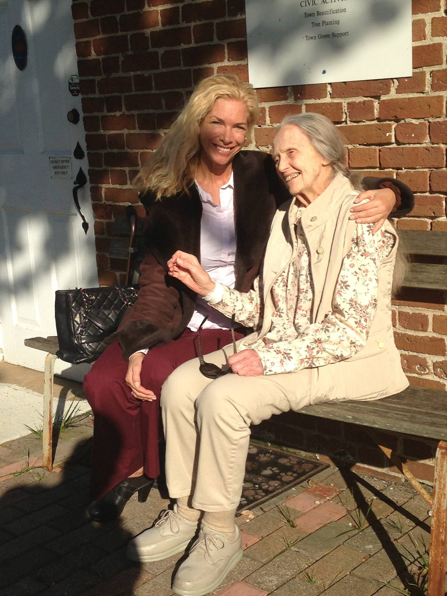 Suzanne O'Brien with a patient at end of life